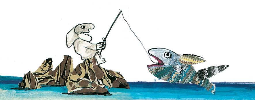 Luzzati, La tarantella di Pulcinella, libro illustrato per bambini, Le rane Interlinea