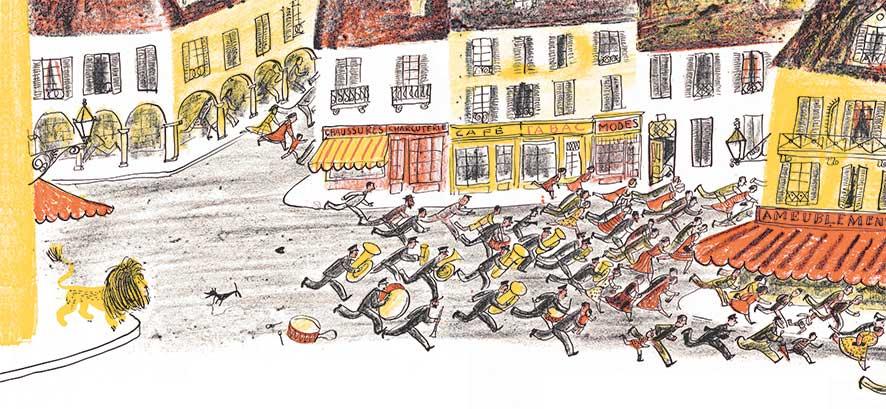 Fatio, Il leone Felice, libro illustrato per bambini, Le rane Interlinea