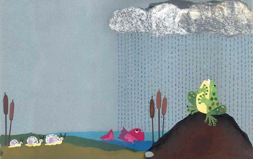 Fortis de Hieronymis, Che tempo fa?, libro illustrato per bambini, le rane Interlinea