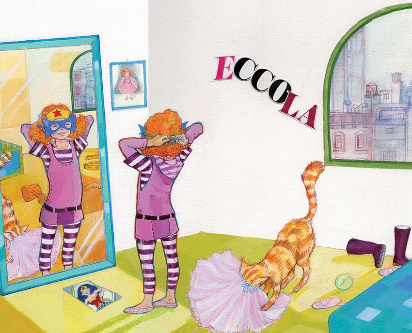 Cinzia Ghigliano, La bambina mascherata, libro illustrato per ragazzi, Interlinea edizioni