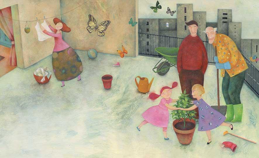 Lavatelli, Benvenuto, pomodoro!, libro illustrato per bambini, Le rane Interlinea