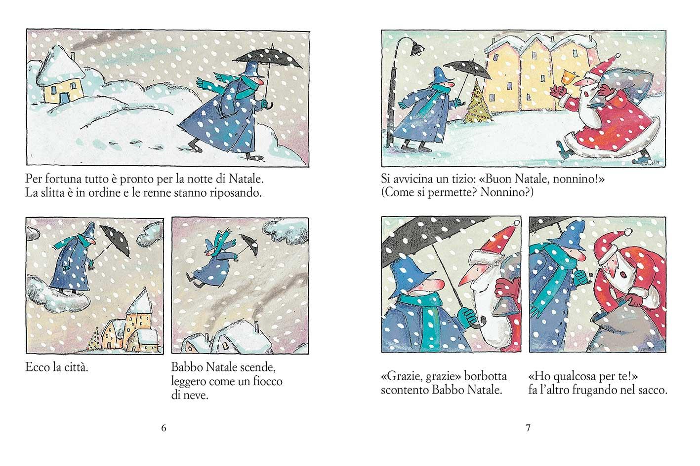 Orecchia, Babbo Natale e i Babbi finti, libro illustrato di Natale per bambini Le rane Interlinea