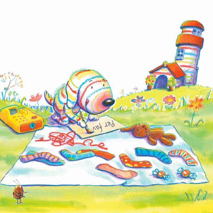 Guy Parker-Rees, Dylan fa il negoziante, libro illustrato per bambini, Le rane Interlinea