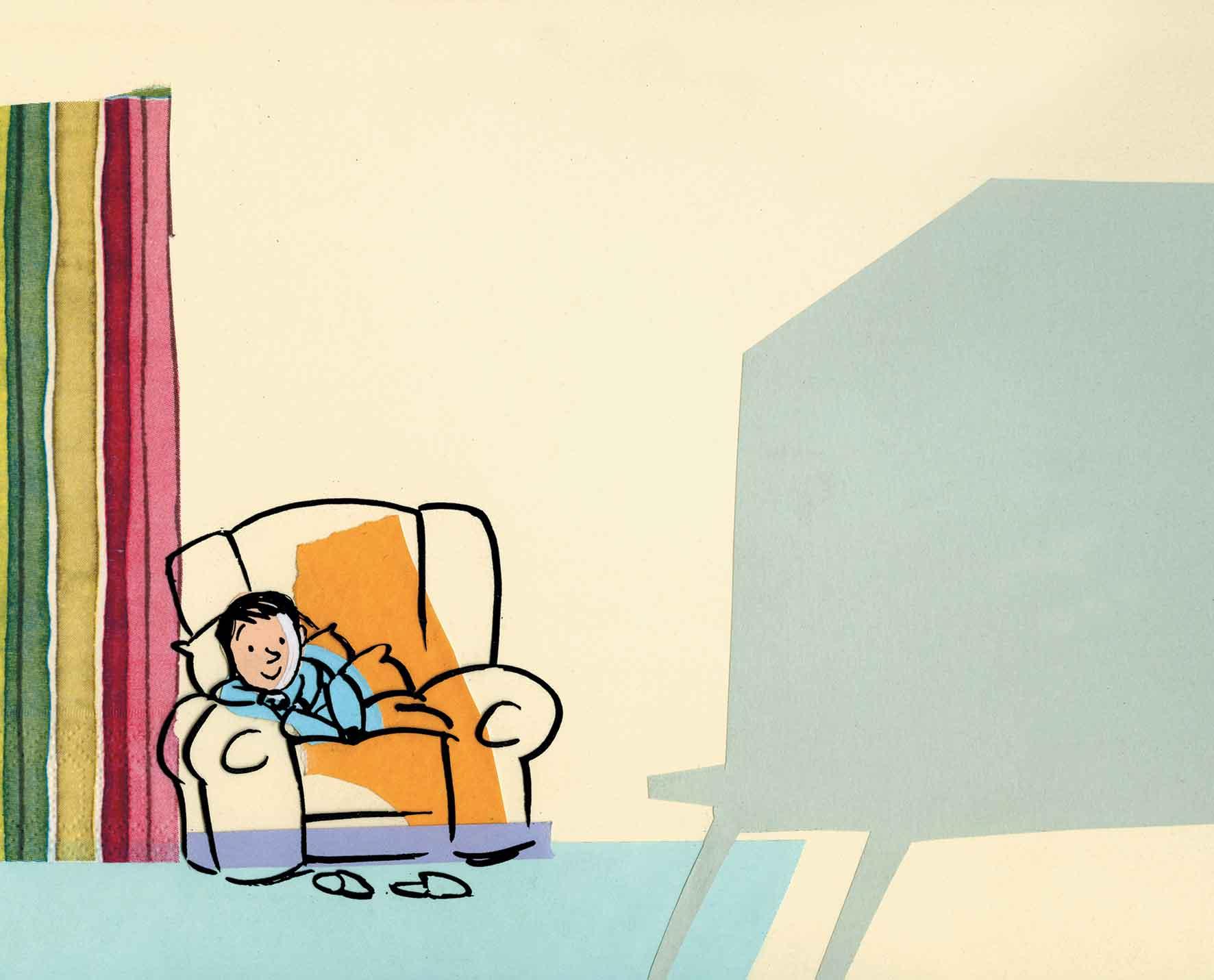 Roncaglia, La televisione prepotente, libro illustrato per bambini, Interlinea edizioni