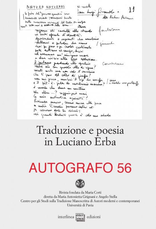 Traduzione e poesia in Luciano Erba