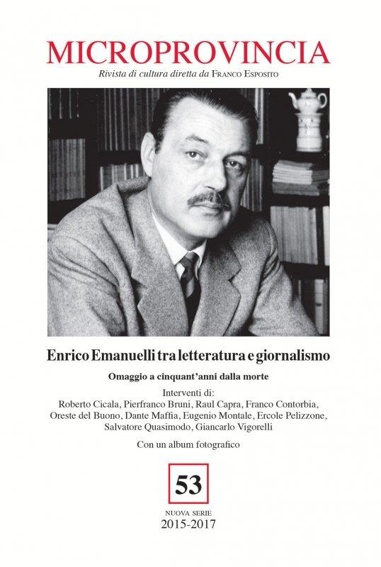 Enrico Emanuelli tra letteratura e giornalismo. Omaggio a cinquant'anni dalla morte